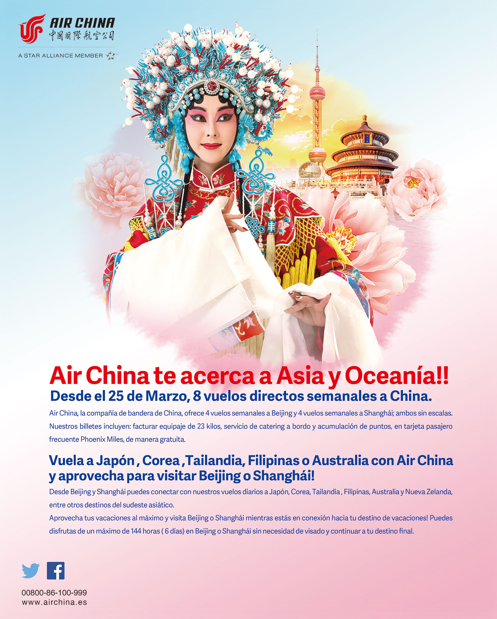 Air china te acerca a Asia y Oceanía!!